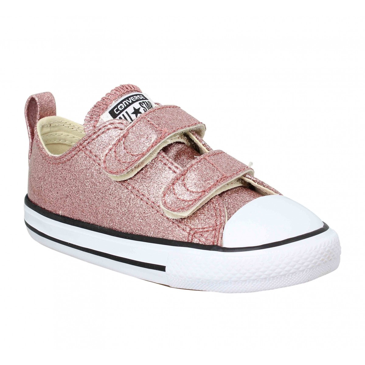 Baskets CONVERSE Chuck Taylor All Star 2V paillettes Enfant Rose