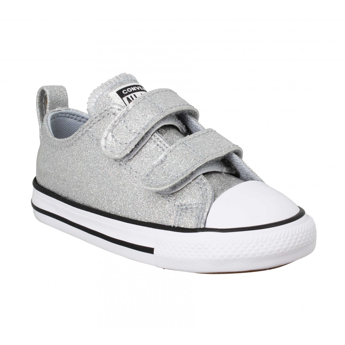 Baskets CONVERSE Chuck Taylor All Star 2V simili Enfant Argent