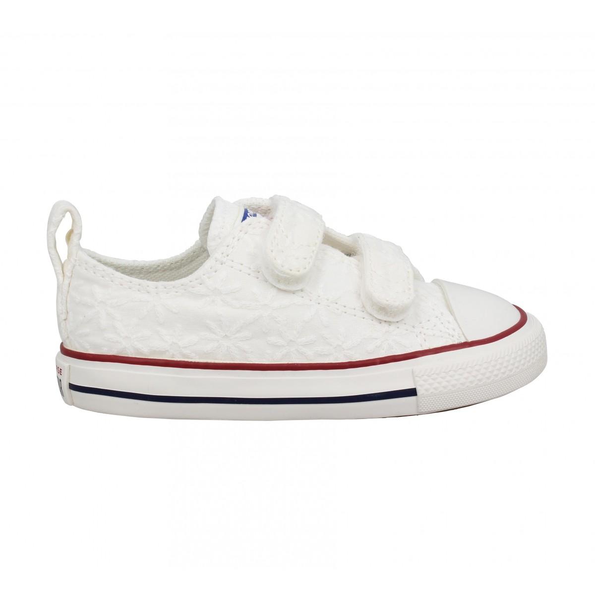 chaussures converse blanche enfant