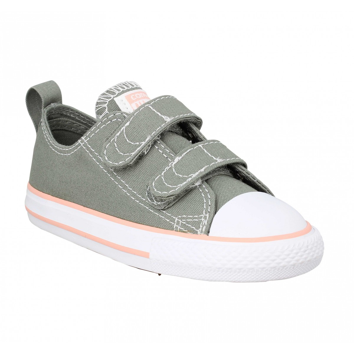 Baskets CONVERSE Chuck Taylor All Star 2V toile Enfant Gris