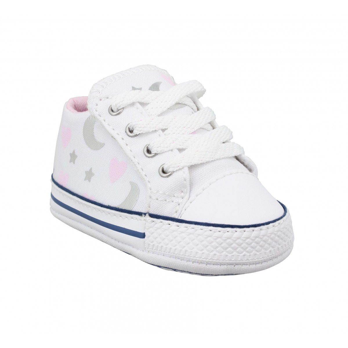 Baskets CONVERSE Chuck Taylor All Star Cribster Mid toile Enfant Blanc Rose