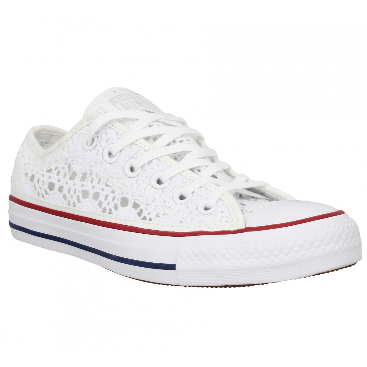 Baskets CONVERSE Chuck Taylor All Star crochet Femme Blanc