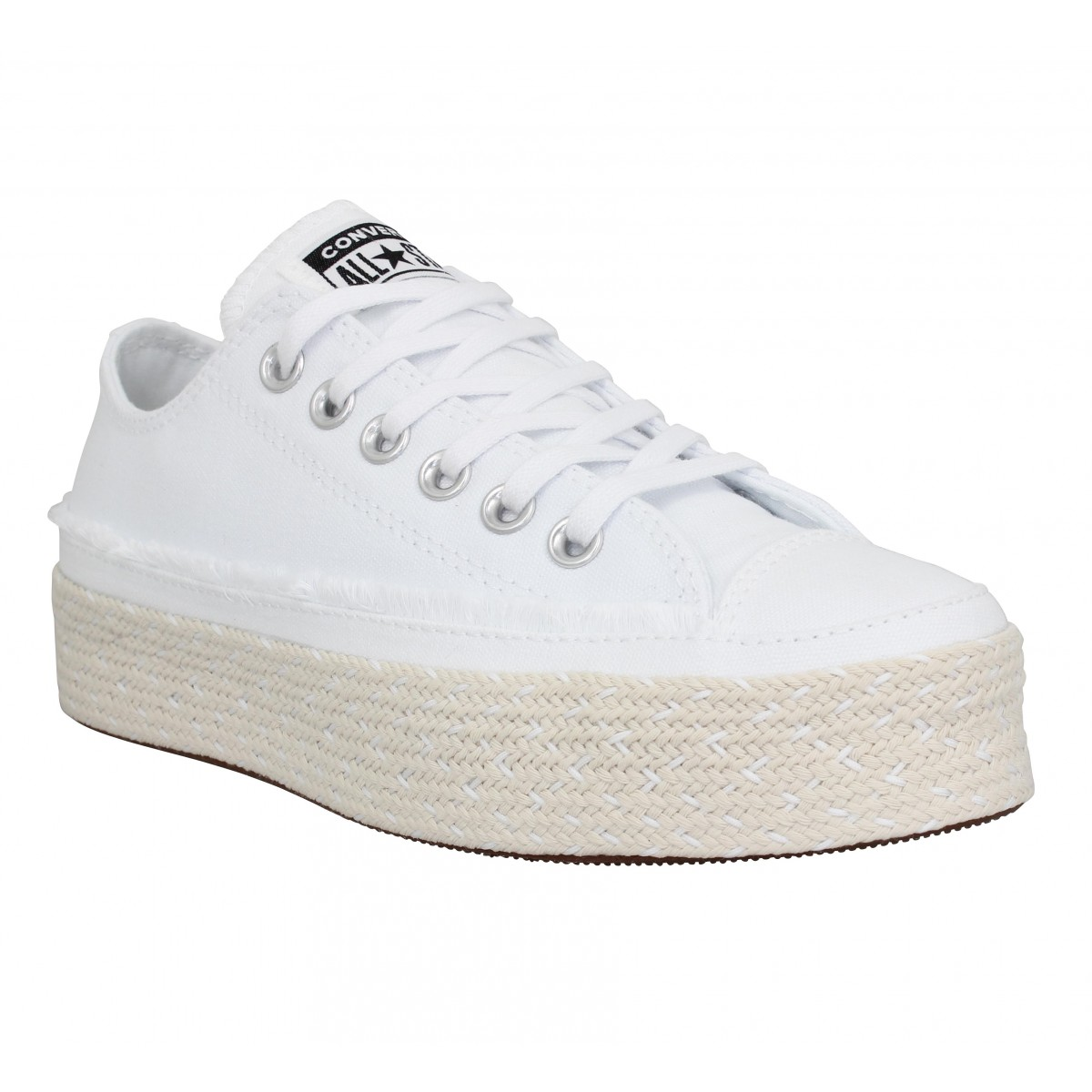 Baskets CONVERSE Chuck Taylor All Star Espadrille toile Femme Blanc