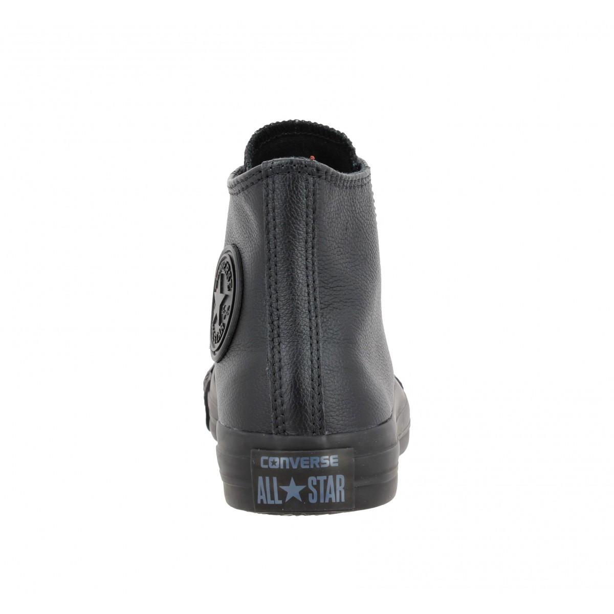 Chaussures Converse chuck taylor all star hi cuir femme noir ...