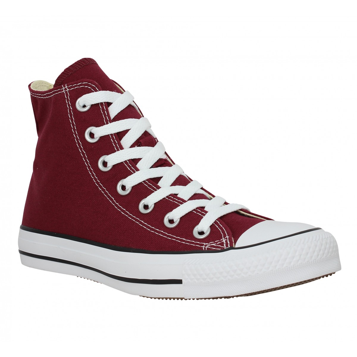 Baskets CONVERSE Chuck Taylor All Star Hi toile Femme Bordeaux