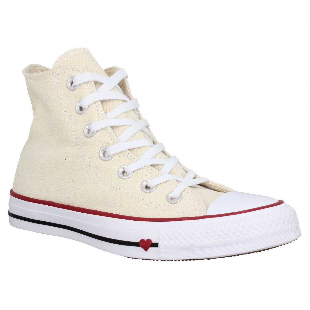 242bbfef920d1 Baskets CONVERSE Chuck Taylor All Star Hi toile Femme Natural