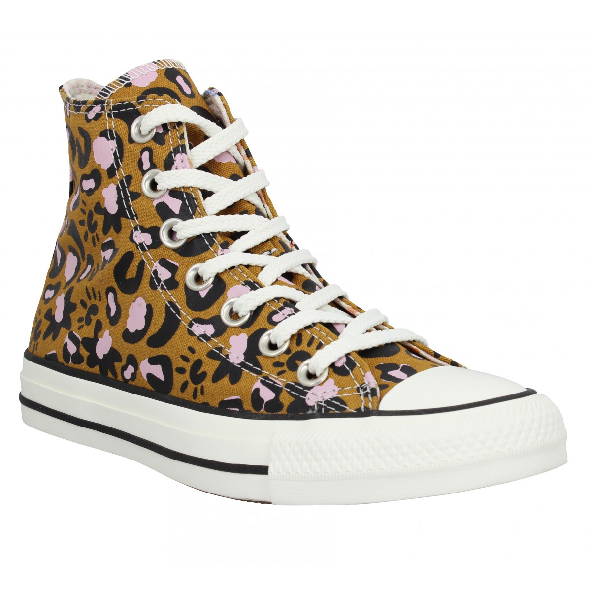 Baskets CONVERSE Chuck Taylor All Star Hi toile Femme Wheat Pink