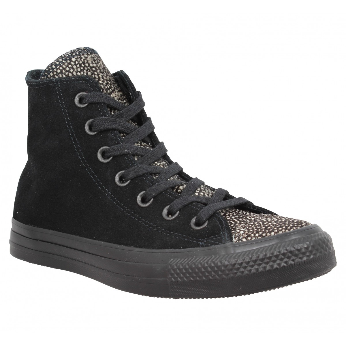Baskets CONVERSE Chuck Taylor All Star Hi velours Femme Noir