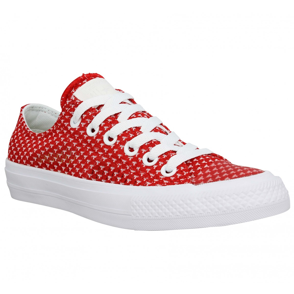 Baskets CONVERSE Chuck Taylor All Star II toile Femme Rouge Blanc