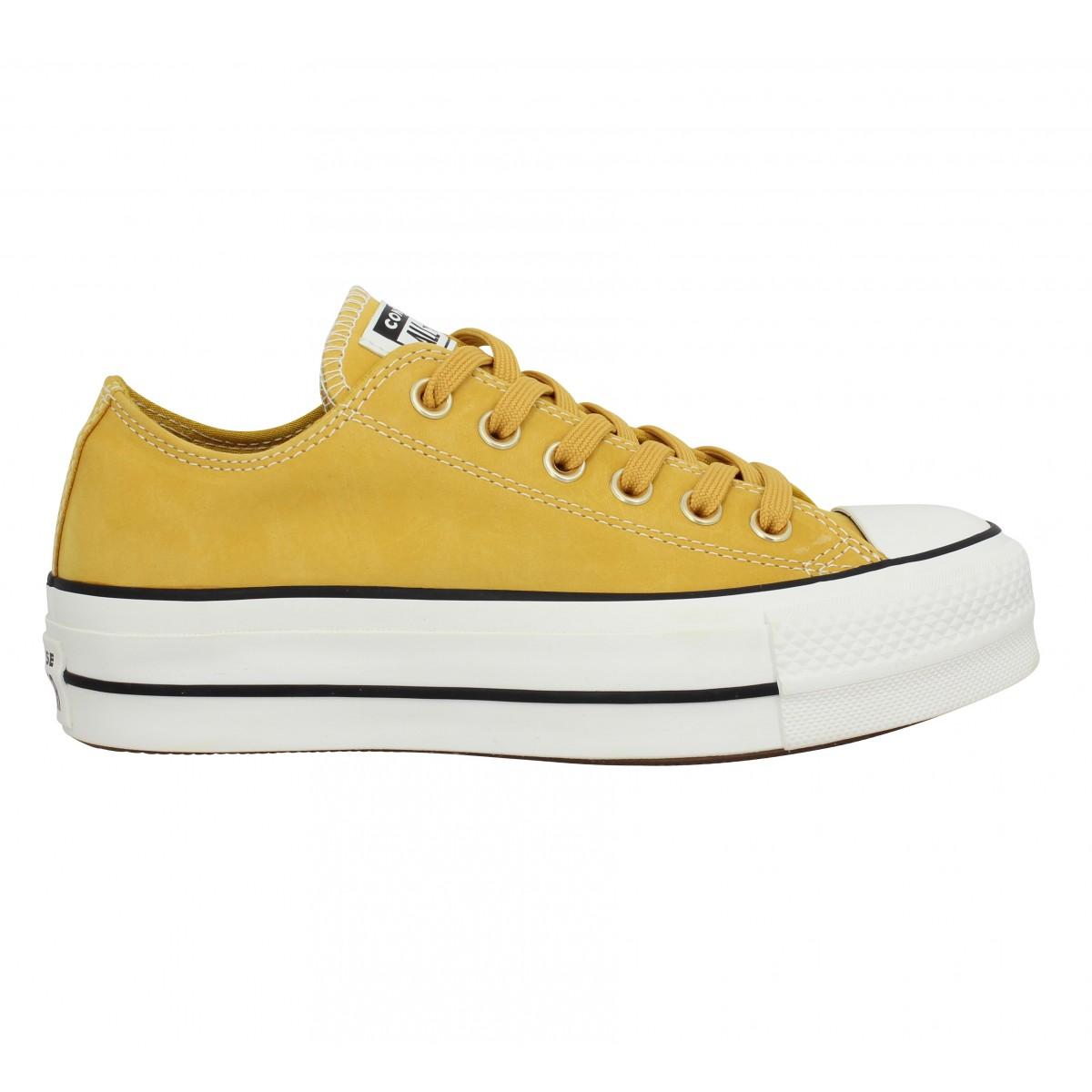 chaussure converse jaune