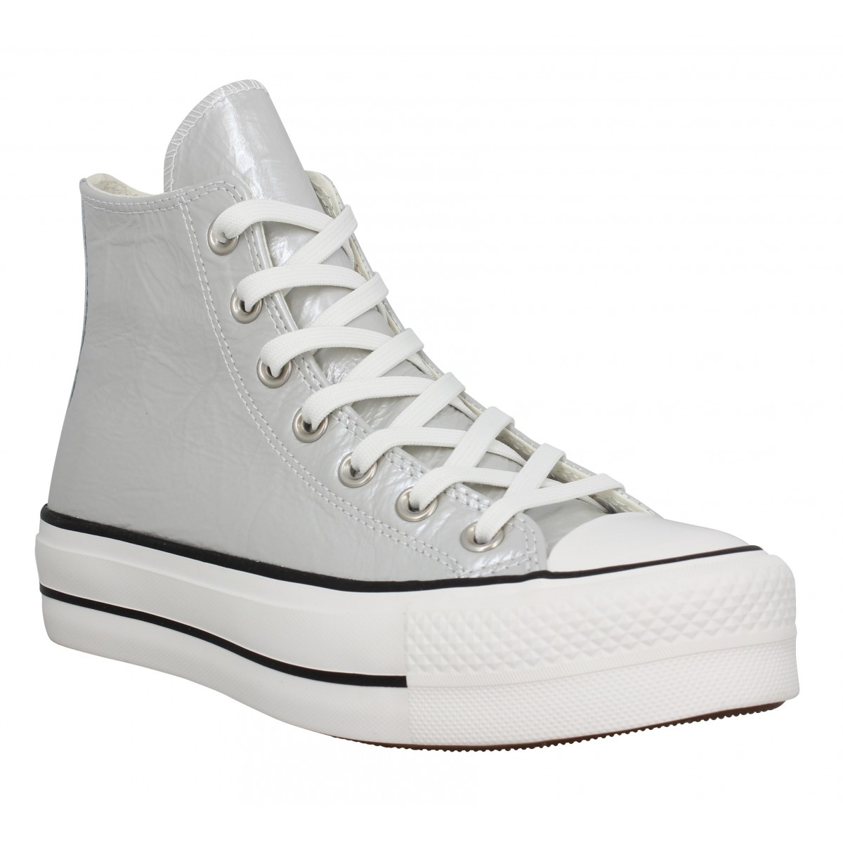 chaussures converse grise femme