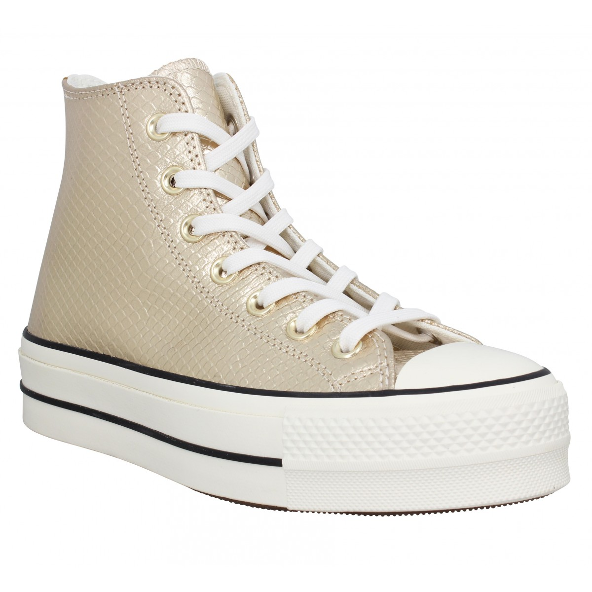 Baskets CONVERSE Chuck Taylor All Star Lift Hi snake Femme Or