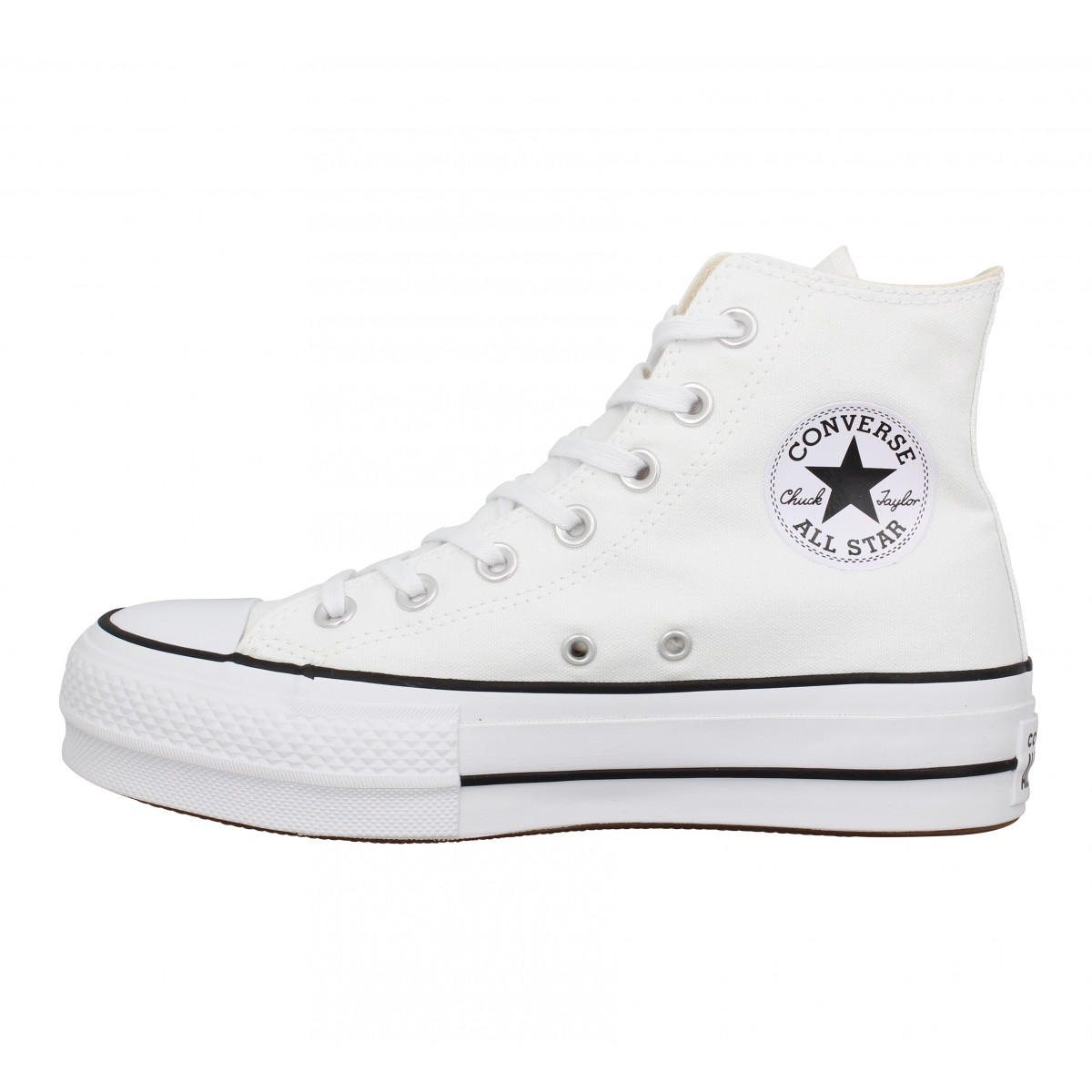 CONVERSE Chuck Taylor All Star Lift Hi toile Femme Blanc