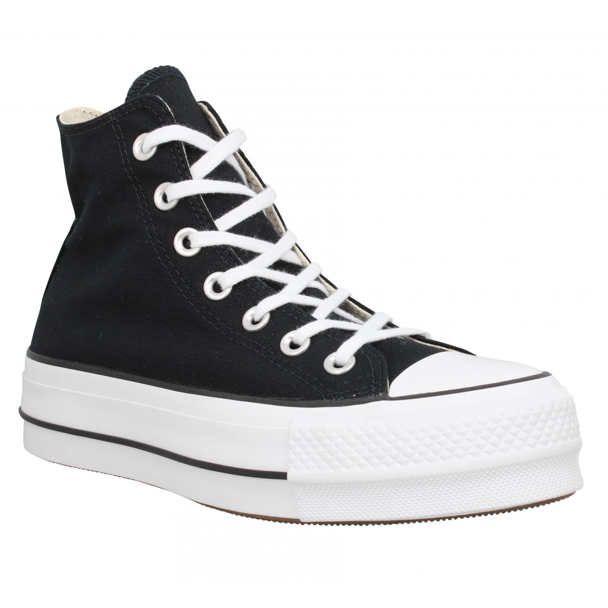 Baskets CONVERSE Chuck Taylor All Star Lift Hi toile Femme Noir
