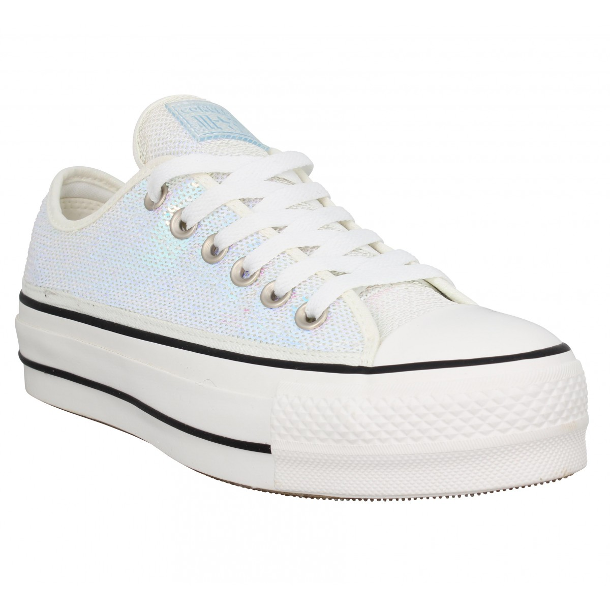 Baskets CONVERSE Chuck Taylor All Star Lift sequins Femme Silver White