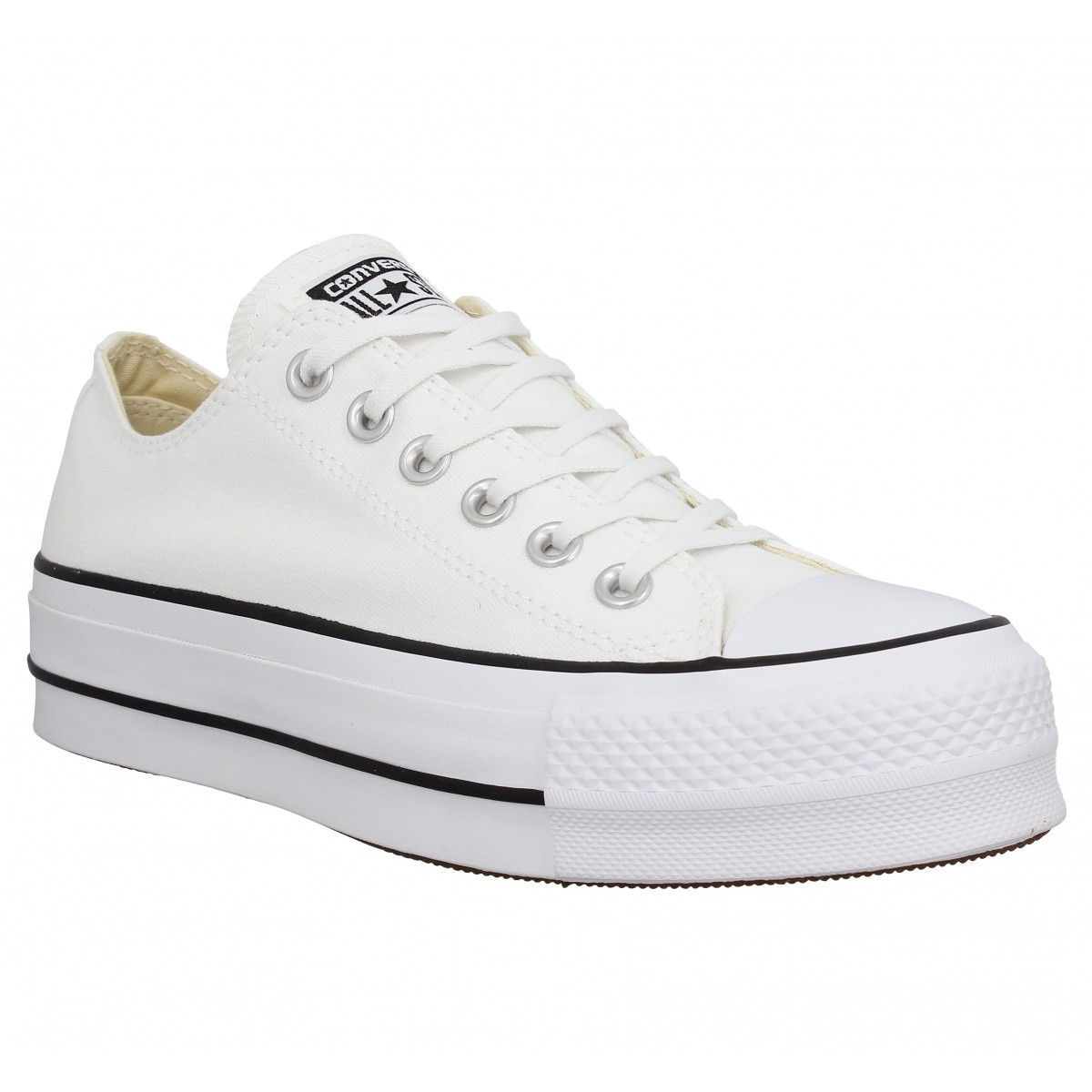 Baskets CONVERSE Chuck Taylor All Star Lift toile Femme Blanc