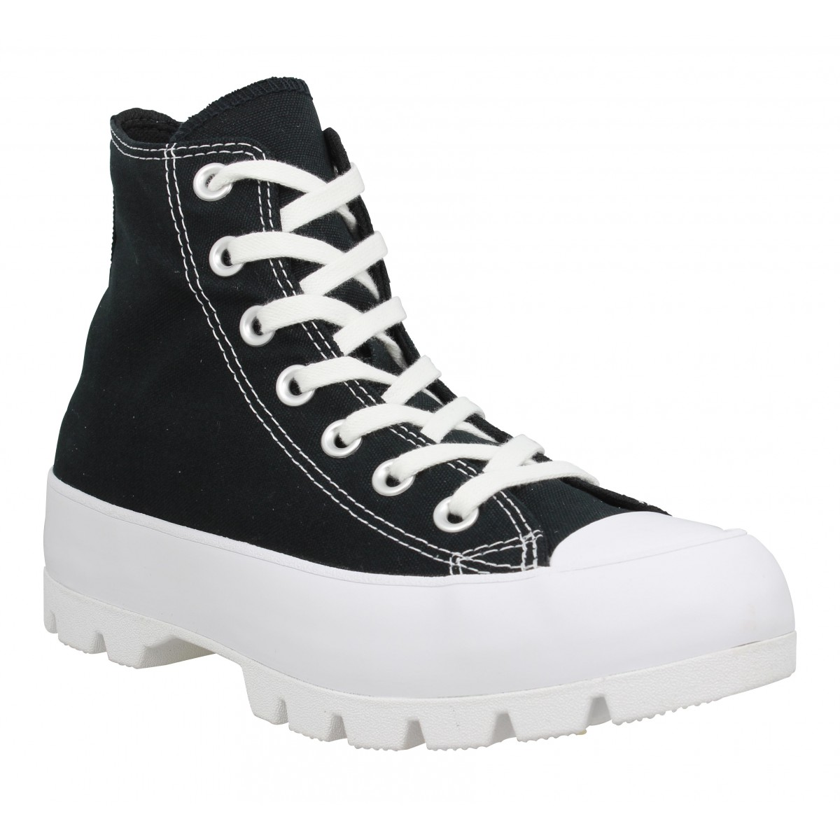 Baskets CONVERSE Chuck Taylor All Star Lugged Hi toile Femme Noir