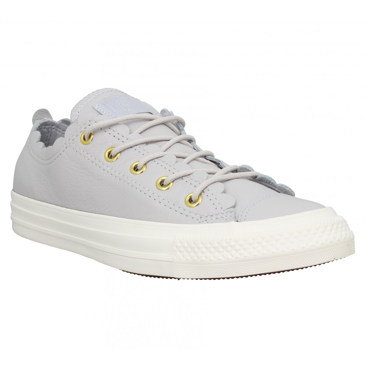 Baskets CONVERSE Chuck Taylor All Star Ox cuir Femme Mousse