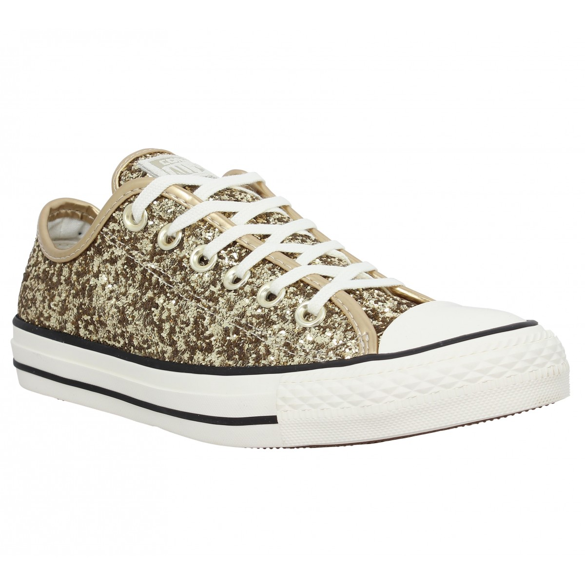 376adab5856 Baskets CONVERSE Chuck Taylor All Star paillettes Femme Gold