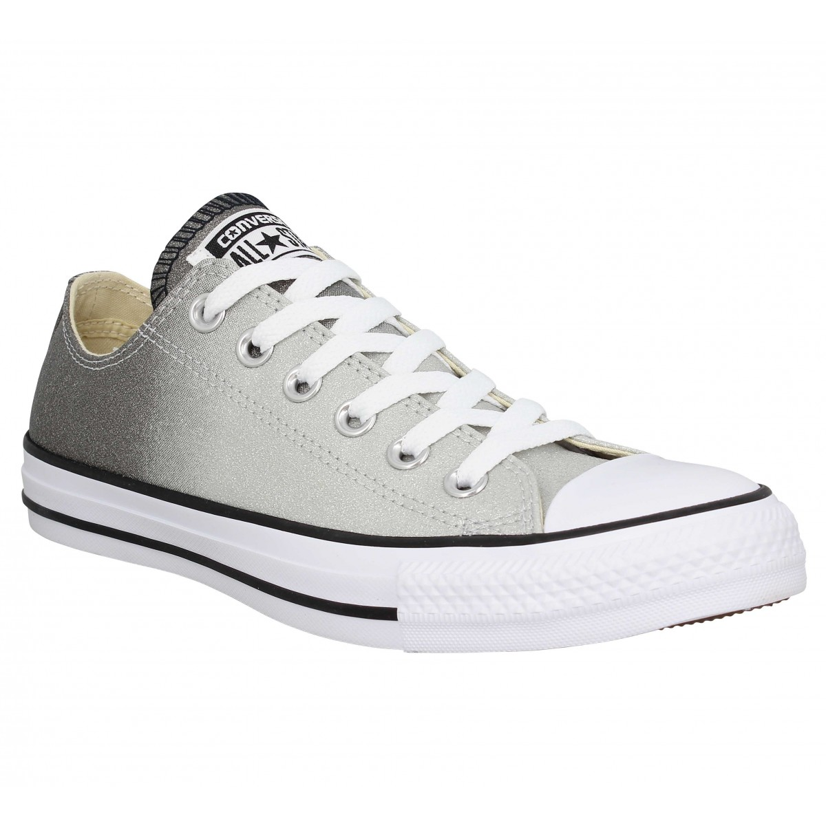 ae19445d68ec4 Baskets CONVERSE Chuck Taylor All Star paillettes Femme Grey