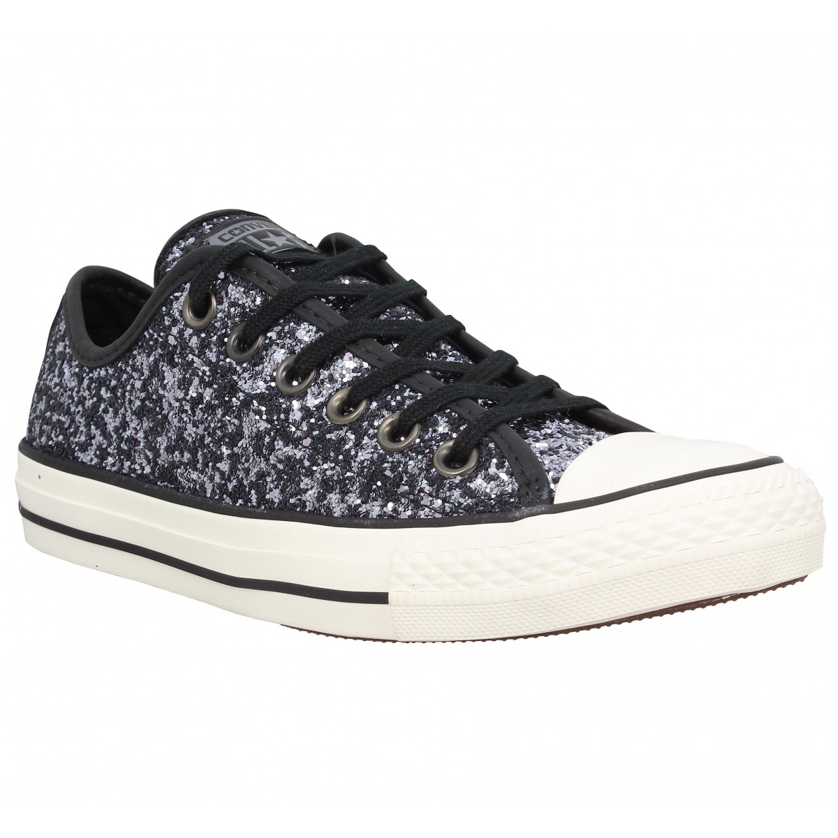 converse chuck taylor all star paillettes femme gun metal femme fanny chaussures. Black Bedroom Furniture Sets. Home Design Ideas