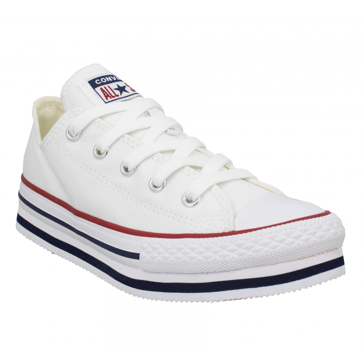 Baskets CONVERSE Chuck Taylor All Star PlatForm Eva toile Enfant Blanc