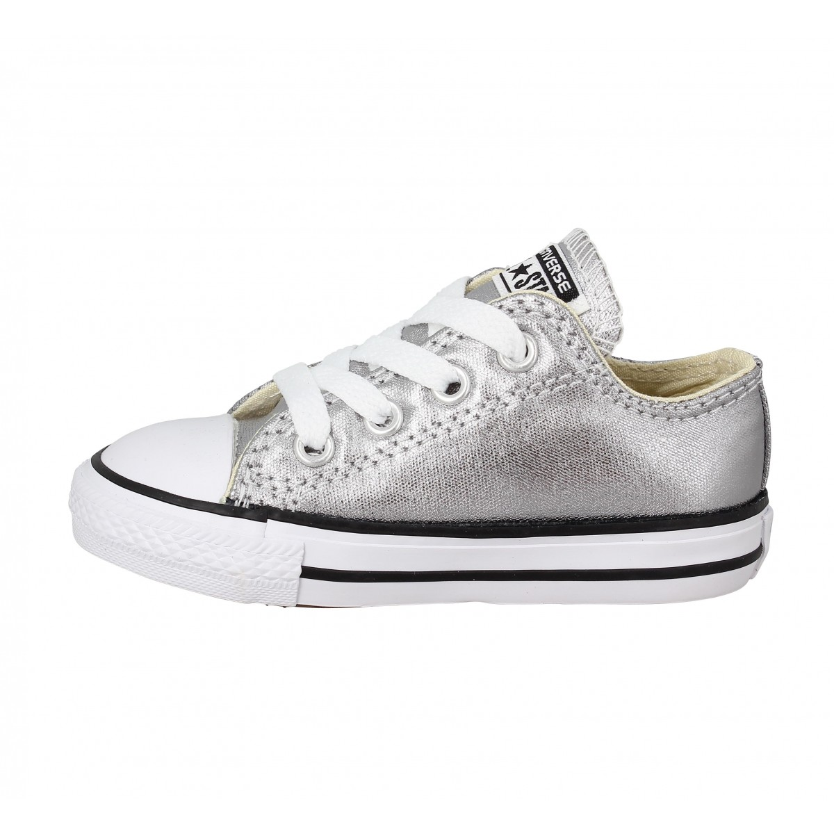 CONVERSE Chuck Taylor All Star toile Enfant Argent