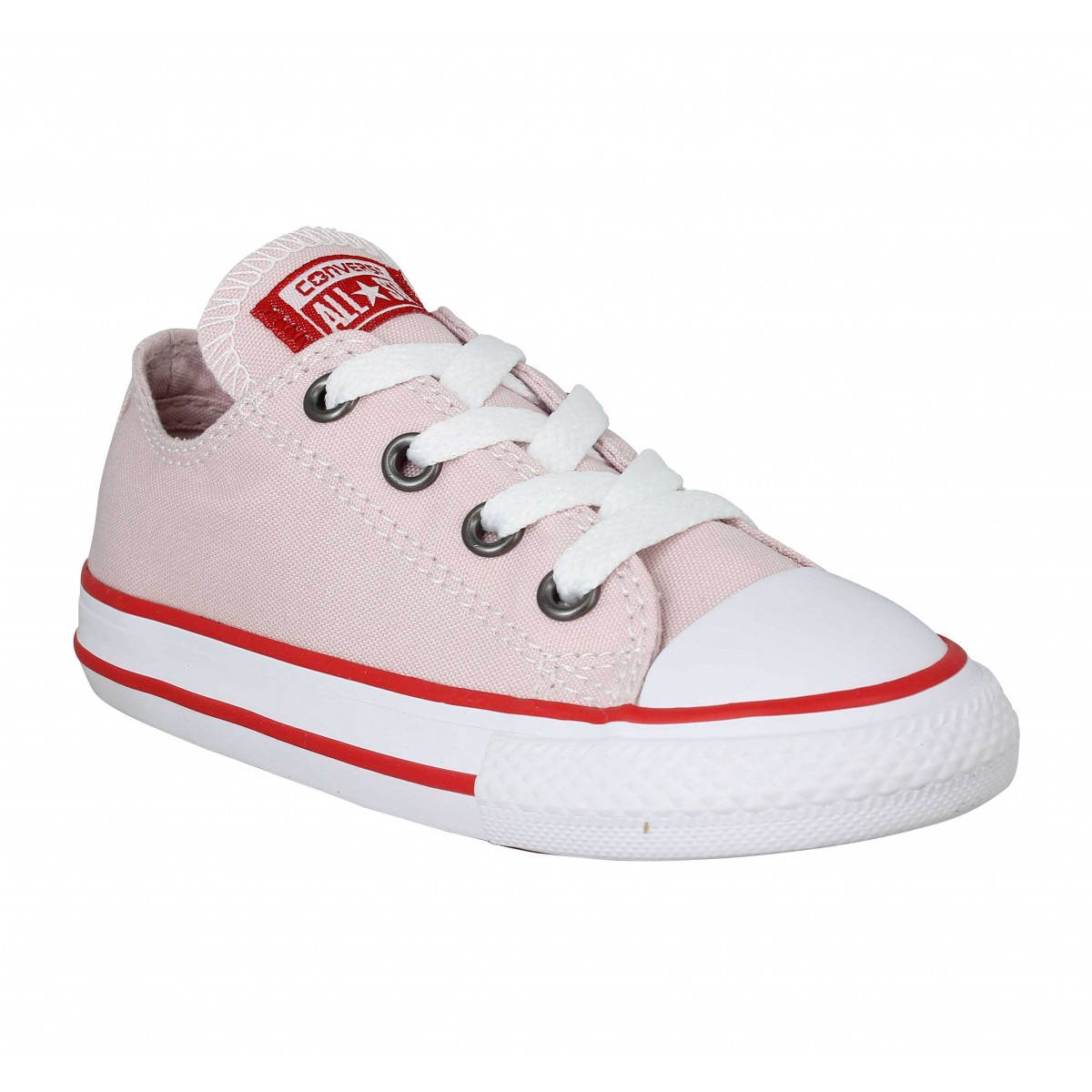 Baskets CONVERSE Chuck Taylor All Star toile Enfant Barely Rose