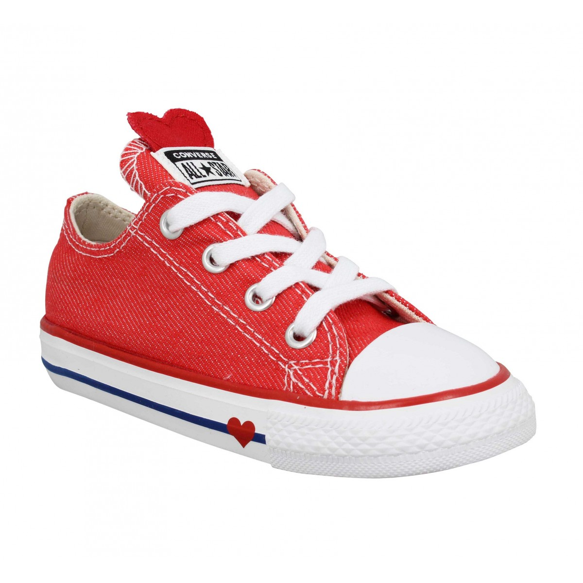 c62383de4b477 Converse chuck taylor all star toile enfant red enfants