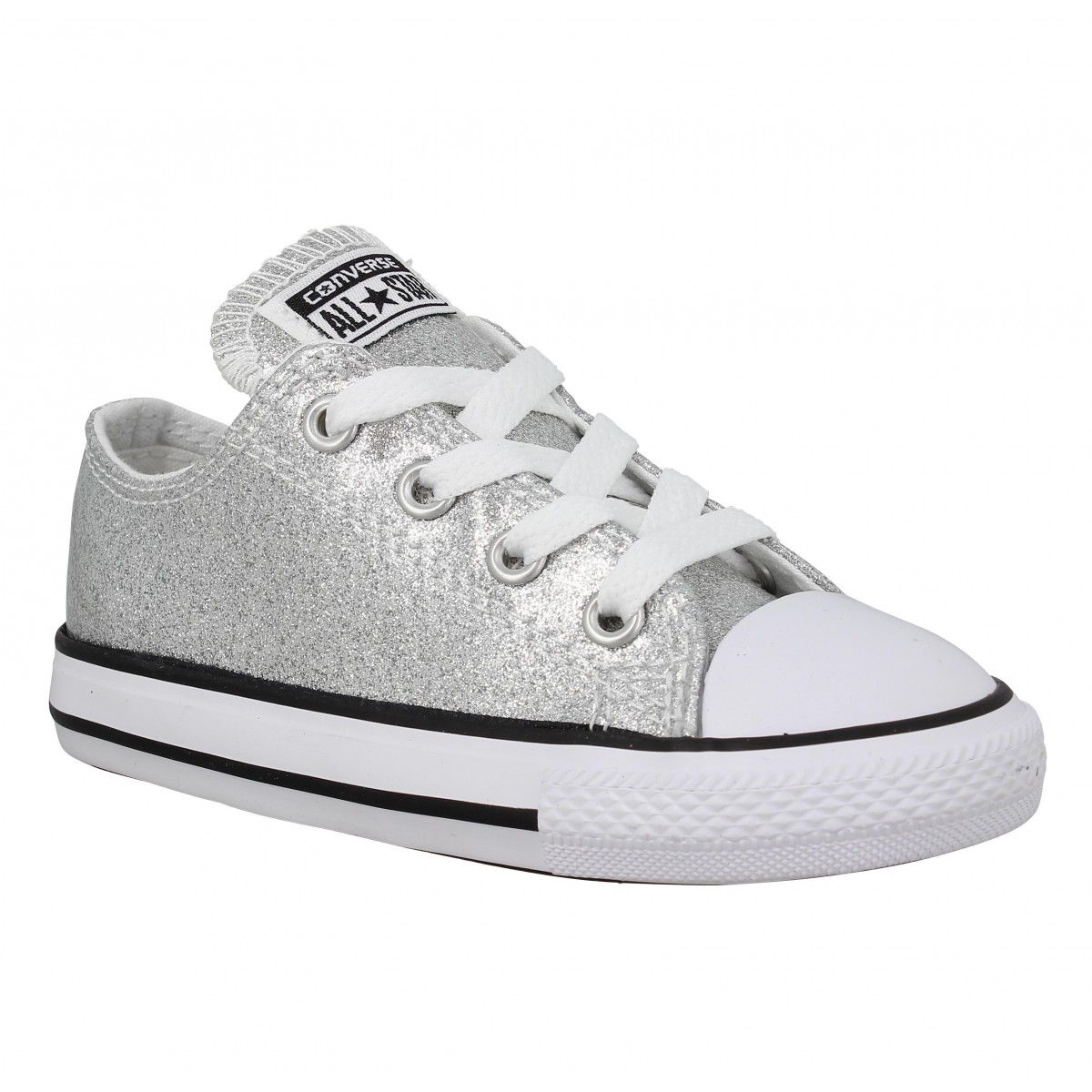 673ecb86be3bf Converse chuck taylor all star toile enfant silver enfants