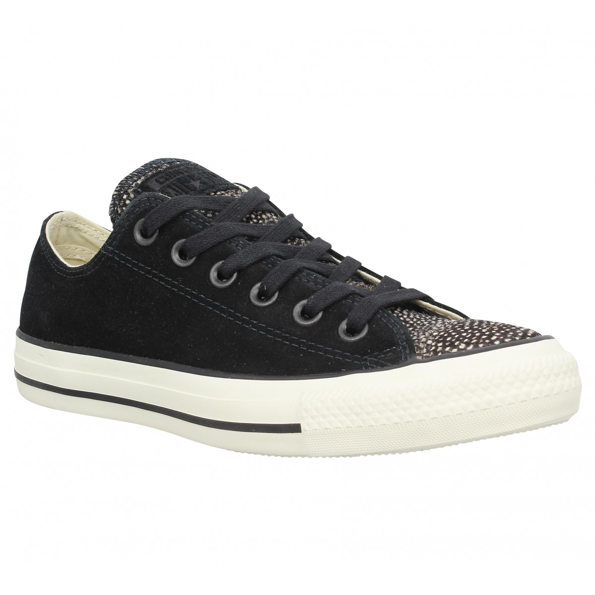 Baskets CONVERSE Chuck Taylor All Star velours Femme Noir
