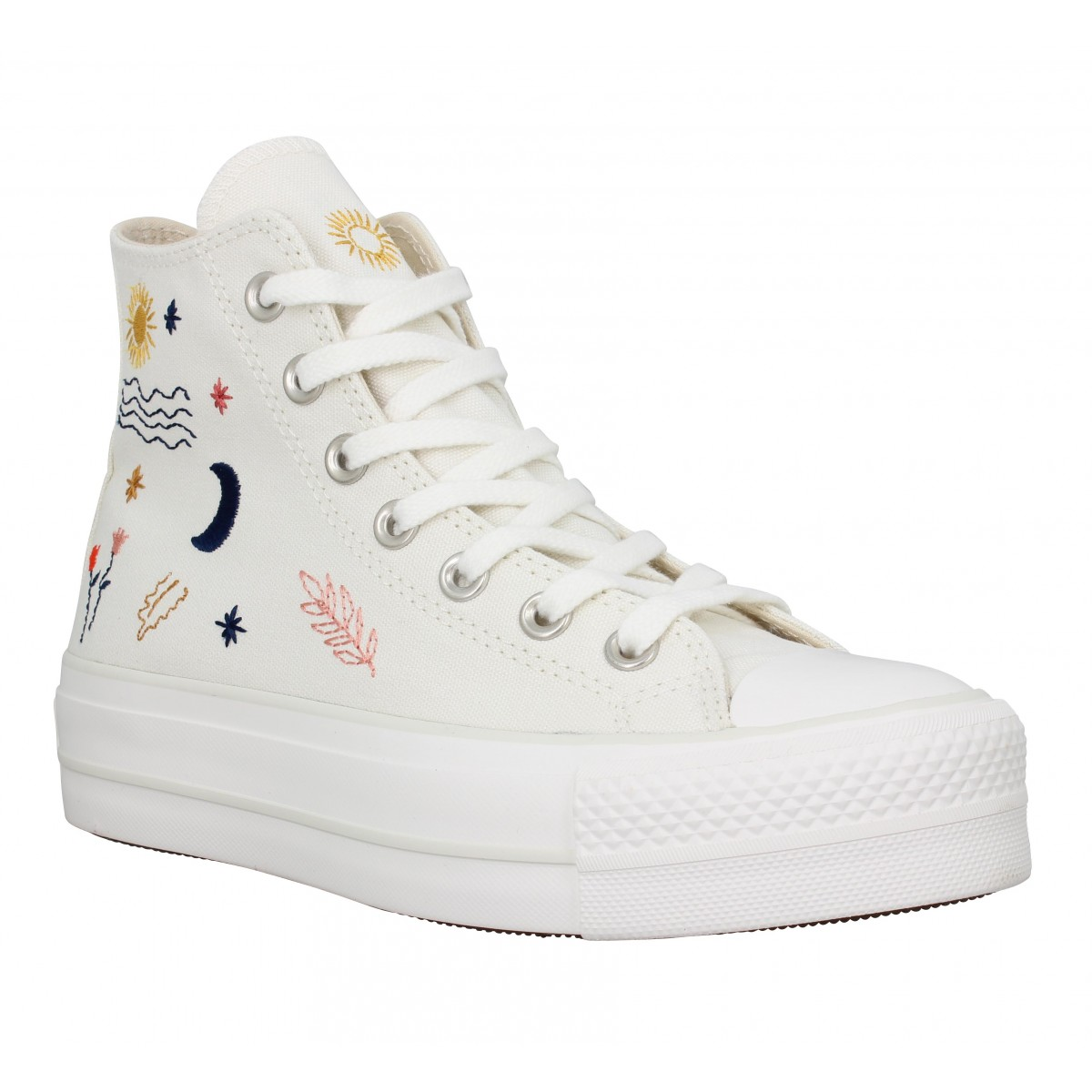 Baskets CONVERSE CT All Star Lift Hi It's Okay To Wander toile Femme Egret