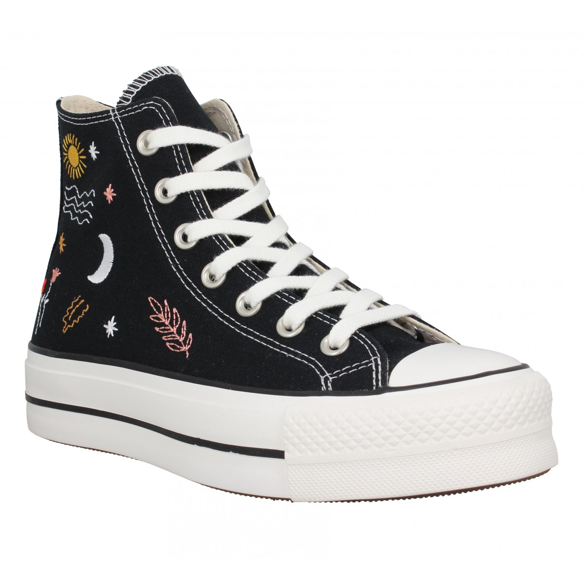 Baskets CONVERSE CT All Star Lift Hi It's Okay To Wander toile Femme Noir