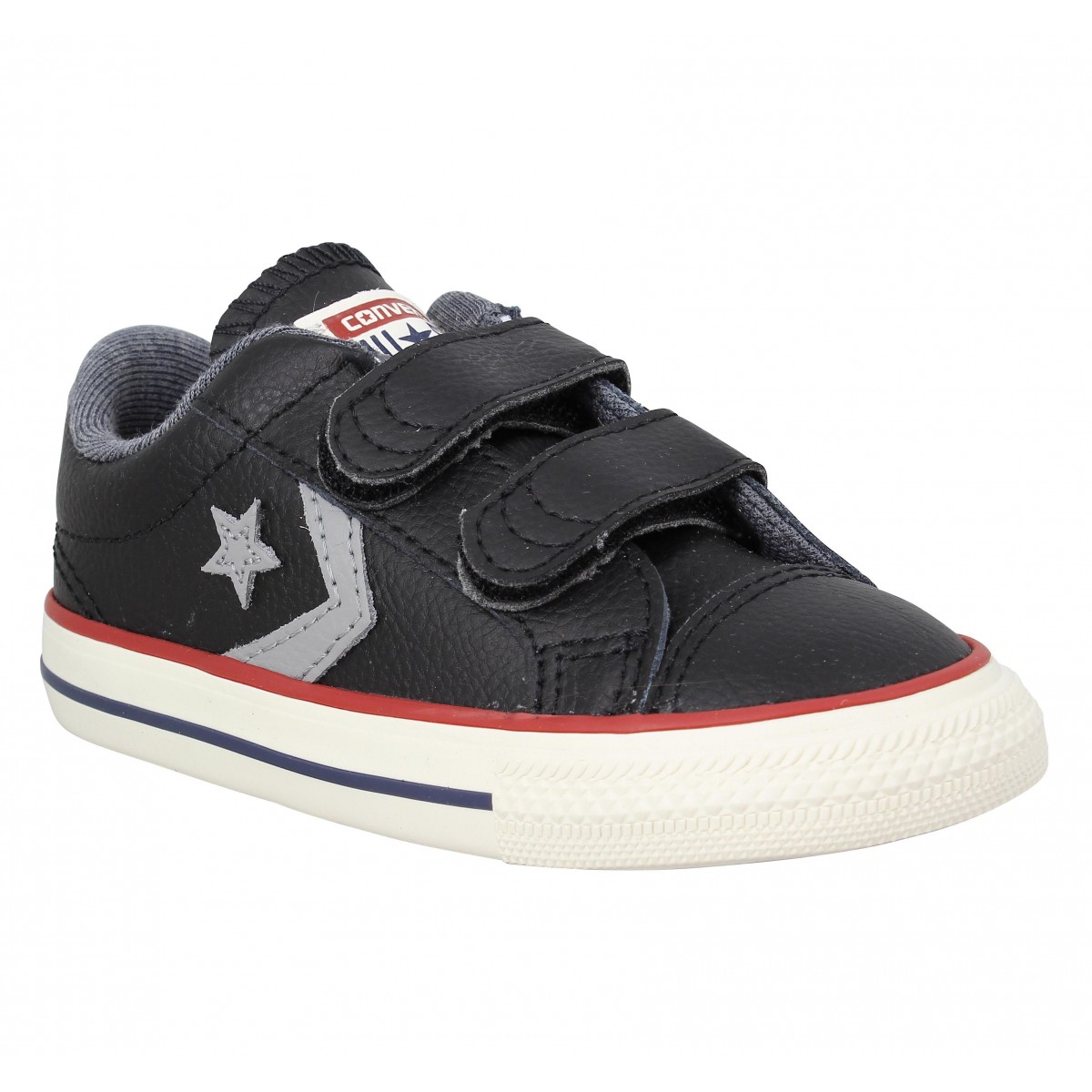 Baskets CONVERSE Star Player 2V cuir Enfant Black