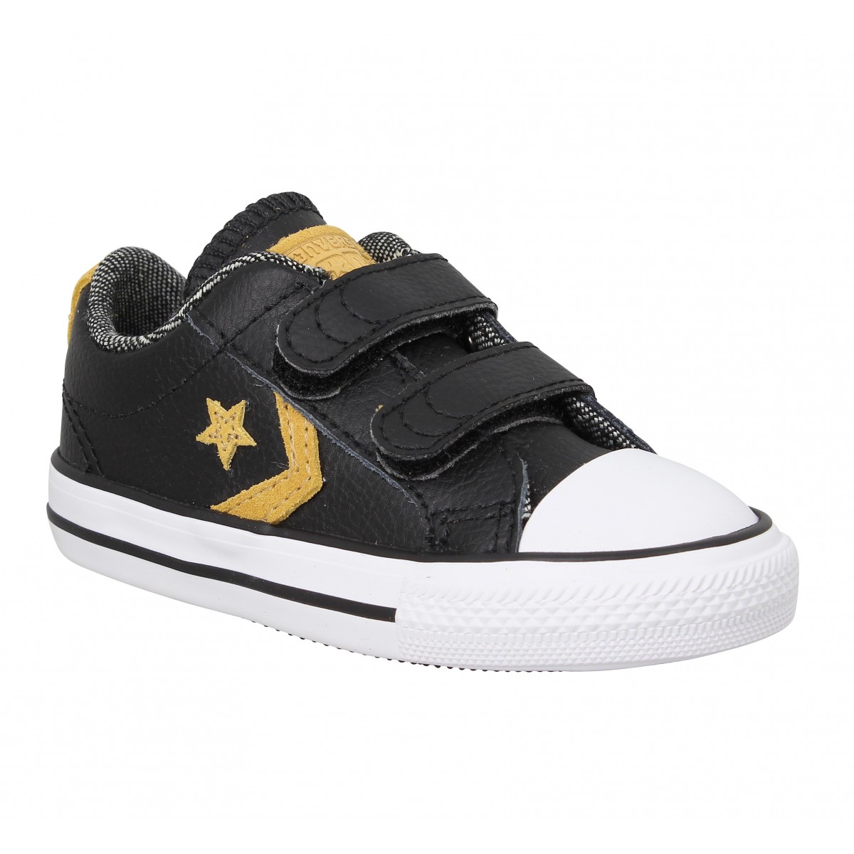 Baskets CONVERSE Star Player 2V cuir Enfant Noir