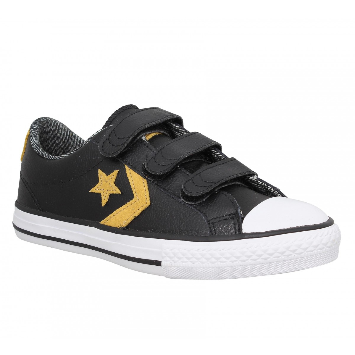 Baskets CONVERSE Star Player 3V cuir Enfant Noir