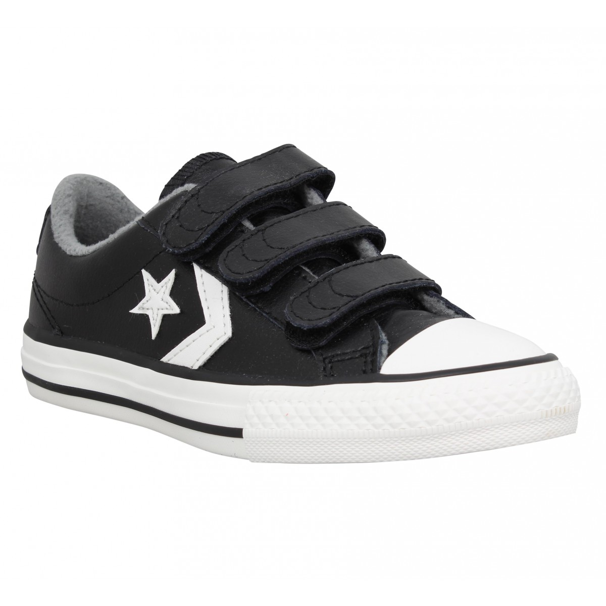CONVERSE Star Player 3V OX cuir Enfant Noir