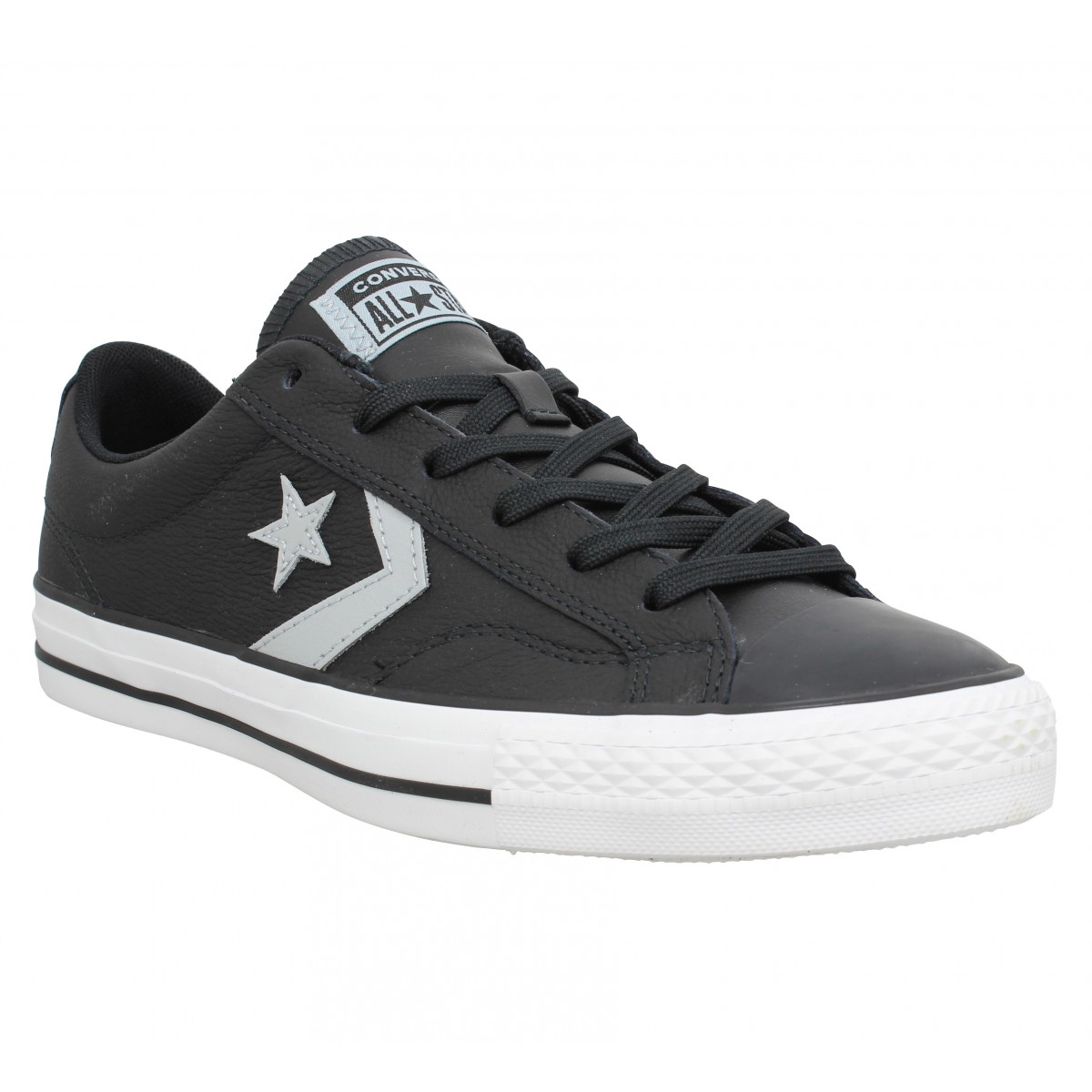 Baskets CONVERSE Star Player cuir Homme Noir