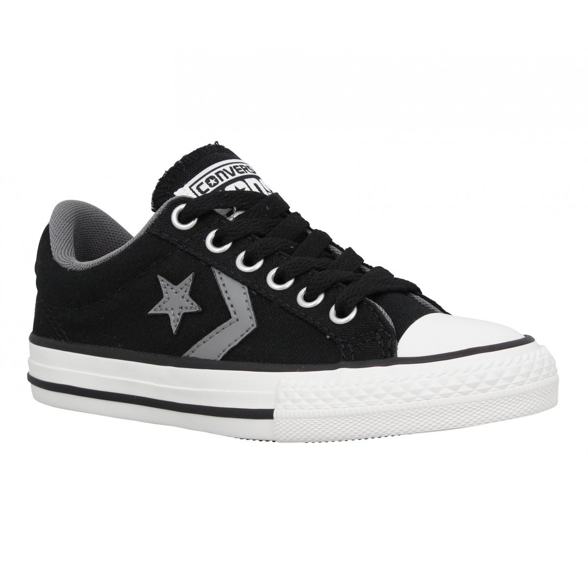 Baskets CONVERSE Star Player toile Enfant Noir + Gris