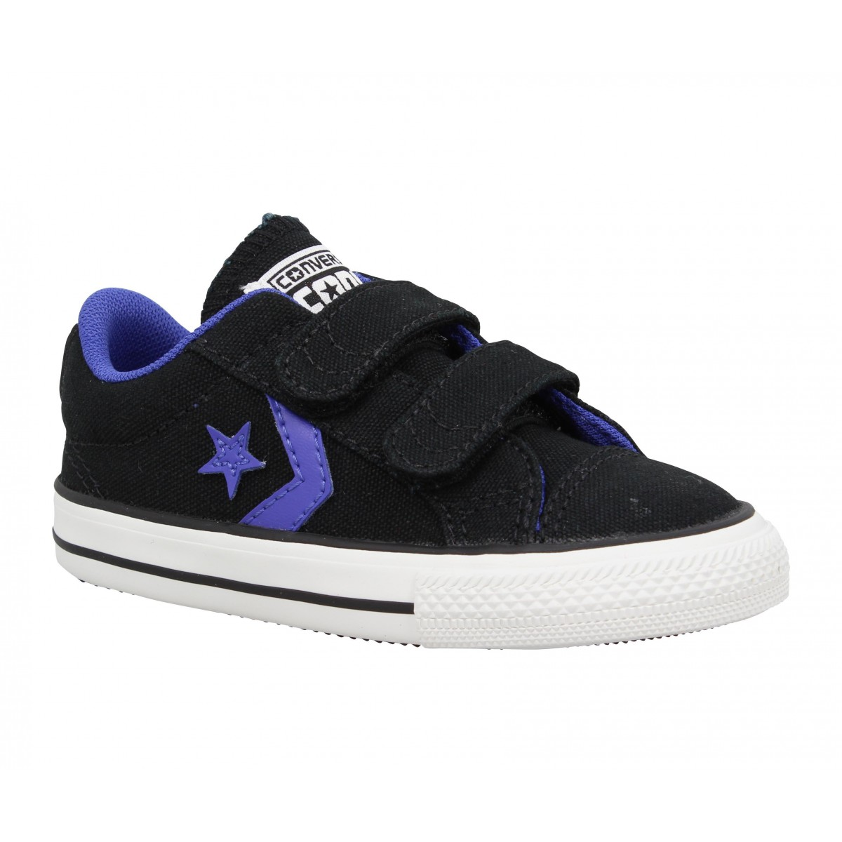 Baskets CONVERSE Star Player toile Enfant Noir + Violet