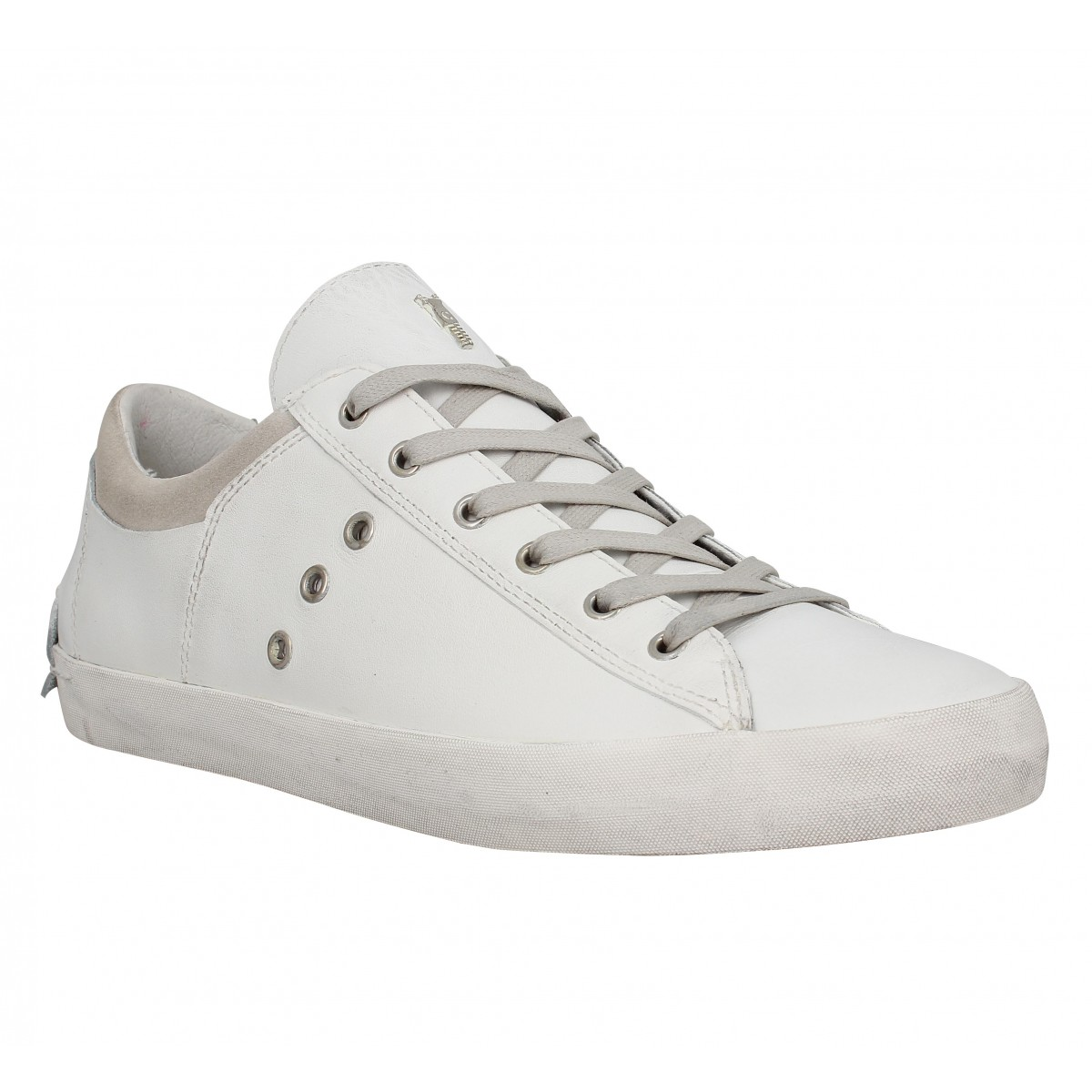 Baskets CRIME 11000 cuir Homme Blanc