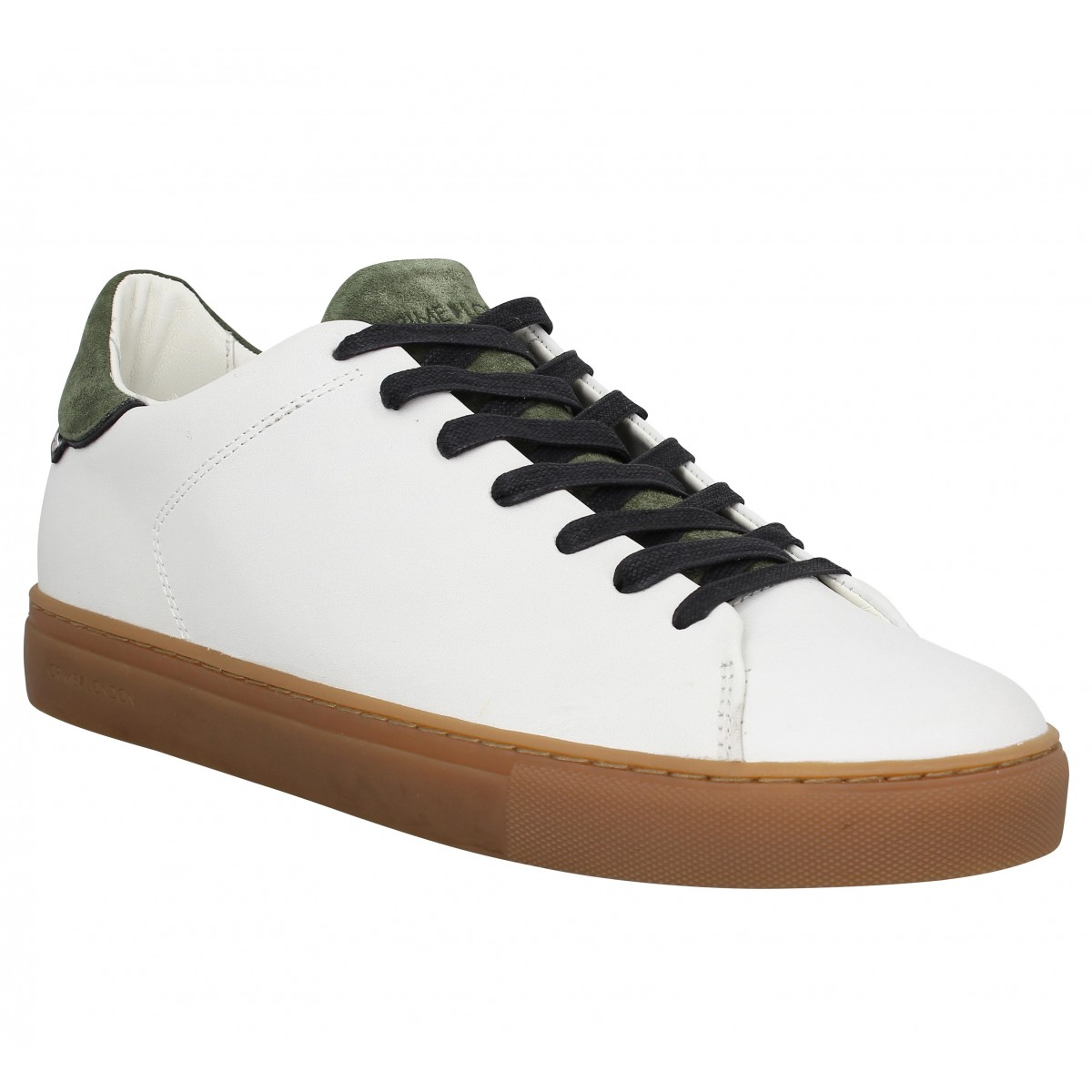 Baskets CRIME 1207 cuir Homme Blanc