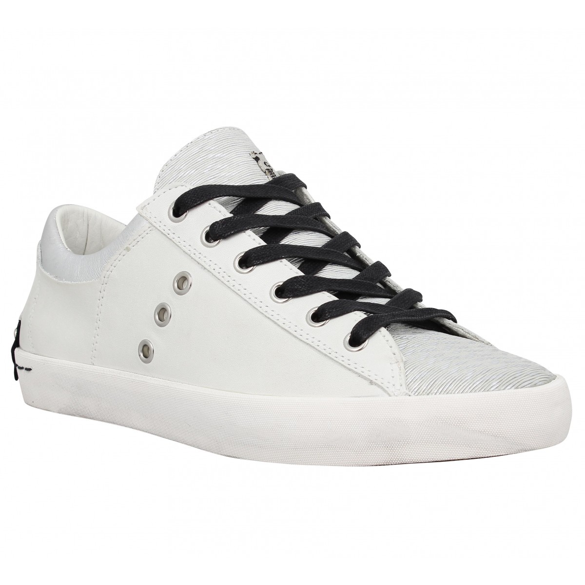 Baskets CRIME 25004 Low Femme Blanc