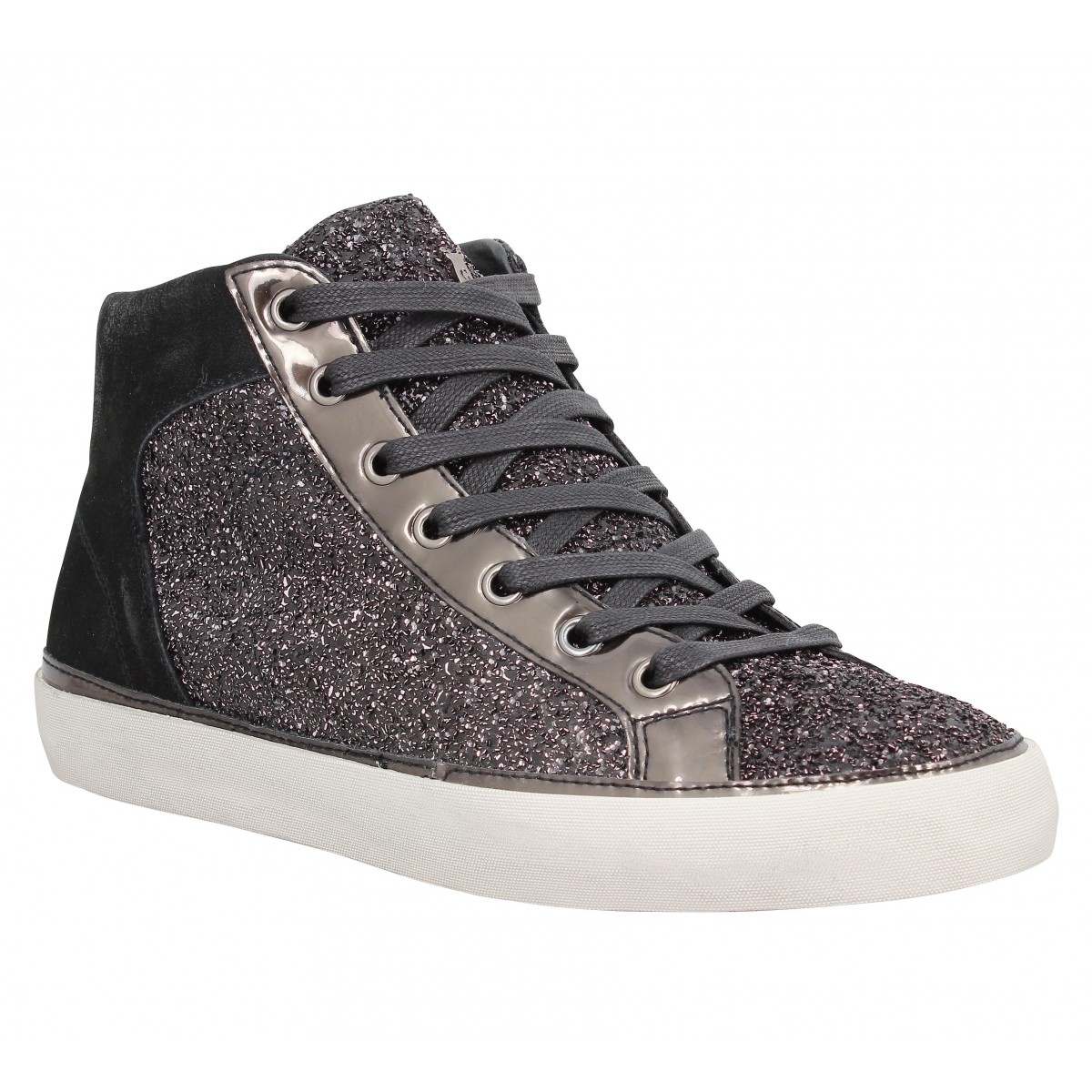 Baskets CRIME 25022 cuir Silver