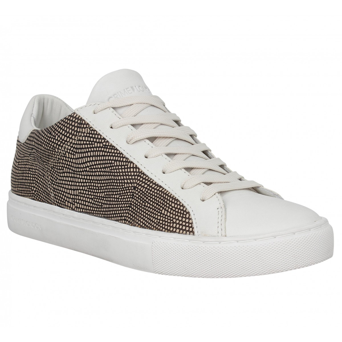 Baskets CRIME 25207 Low Femme Beige