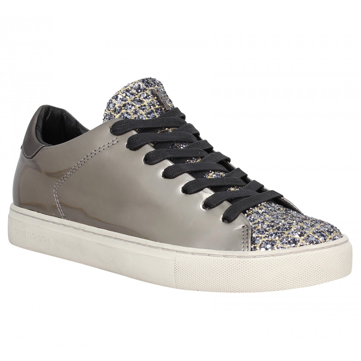 Baskets CRIME 25221 cuir Gris