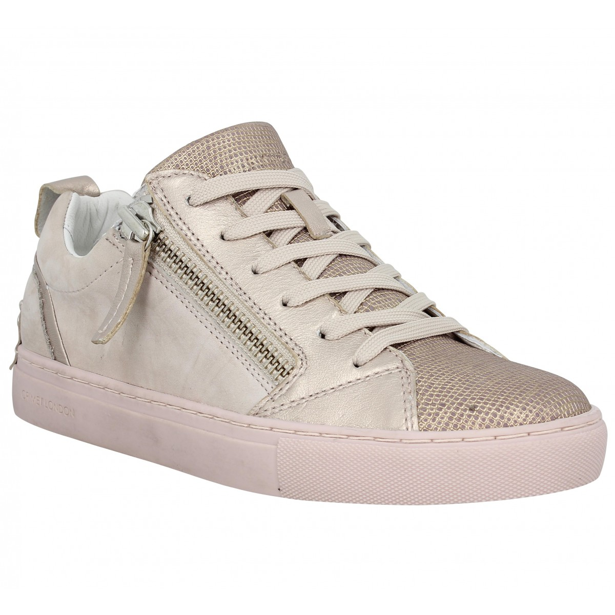 Baskets CRIME 25300 Low Femme Nude