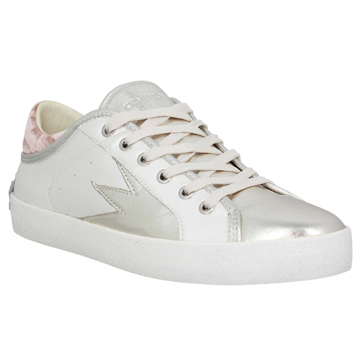 Baskets CRIME Faith Lo cuir Femme Blanc