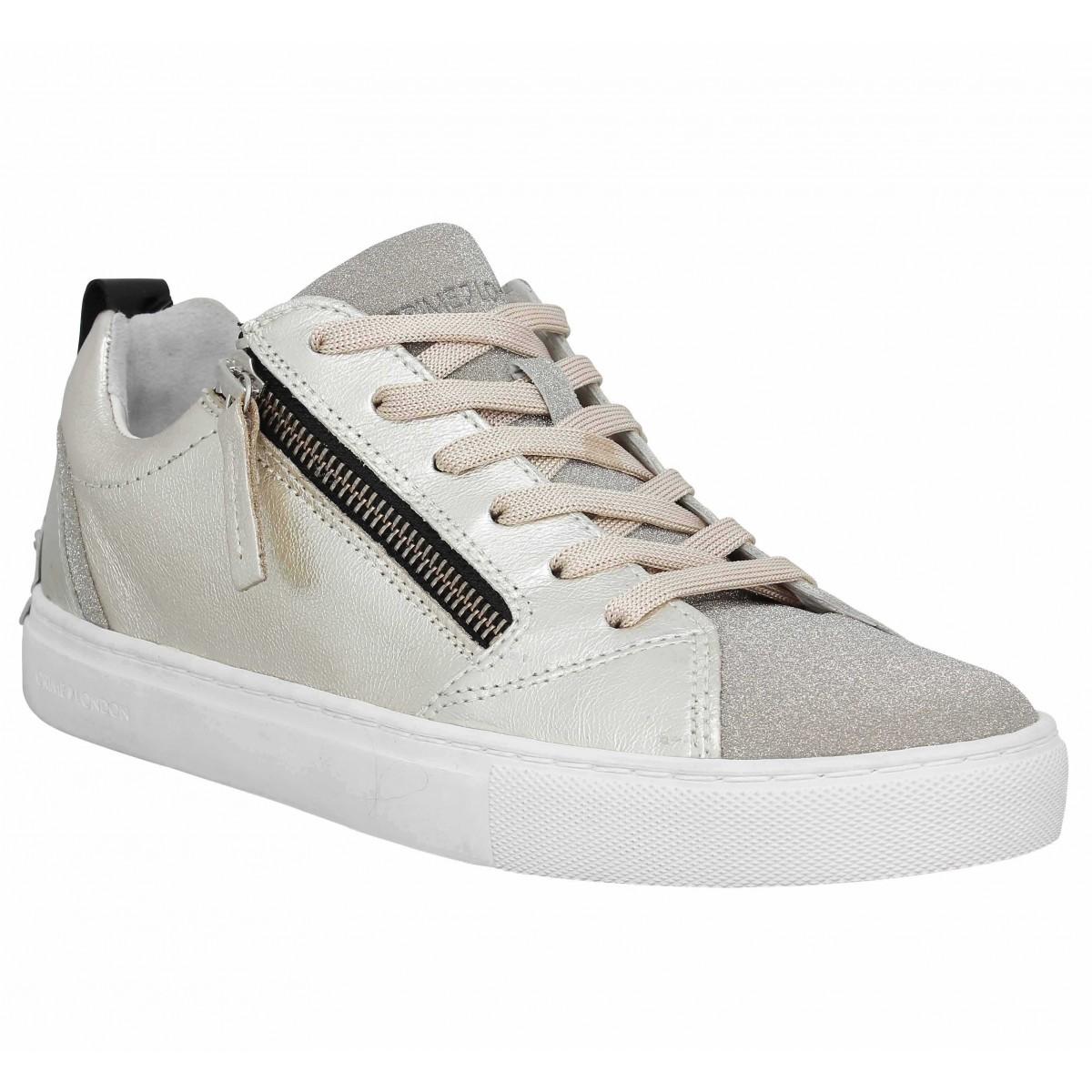 39 EU Chaussures Crime noires femme  Sneakers Basses Femme Asfvlt Area Mid X2eVm2Y81