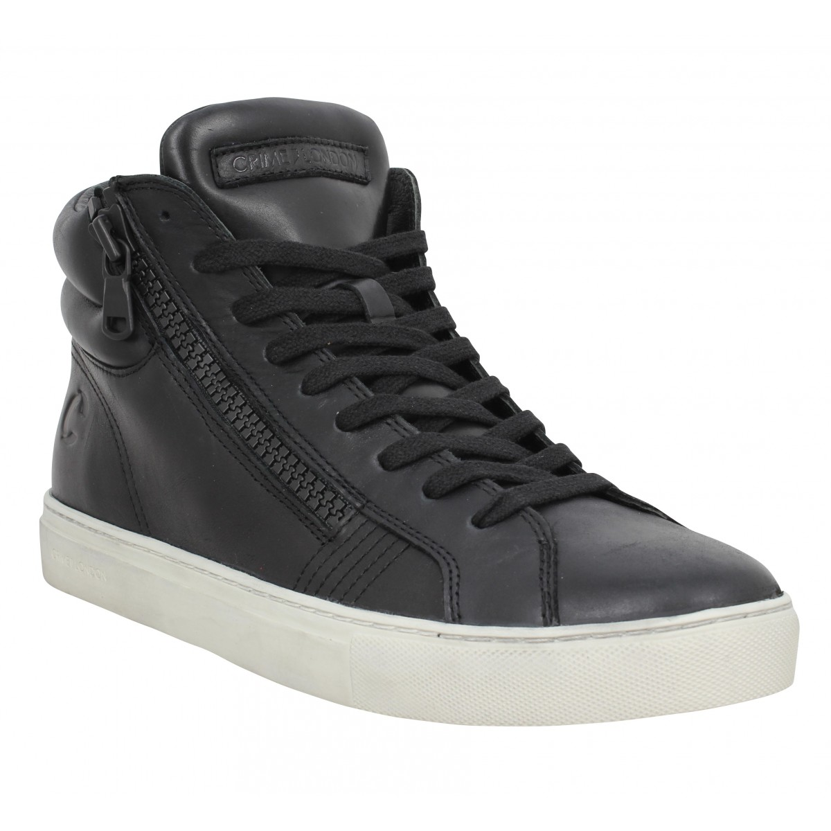 Crime Homme London High Top Double Zip...